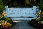 Women sculpture at Woodland Park Rose Garden Seattle Washington USA