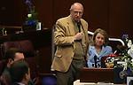 Nevada Sen. Joe Hardy, R-Boulder City, speaks on the Senate floor at the Legislative Building in Carson City, Nev. on Thursday, Feb. 7, 2013. .Photo by Cathleen Allison