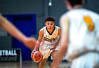 Action from the 2019 Schick AA Boys' Secondary Schools Basketball National Championships 9th place playoff between Auckland Grammar School and St John's College at the Central Energy Trust Arena in Palmerston North, New Zealand on Saturday, 5 October 2019. Photo: Dave Lintott / lintottphoto.co.nz