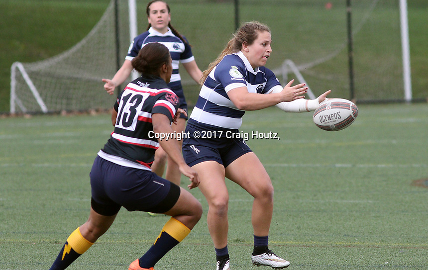 Penn State women's rugby Gabby Cantorna against Washington DC Furies women's rugby on April 22, 2017.  Penn State won 60-10. Photo/©2017 Craig Houtz