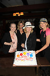 """Shannon Sturges (Days Molly, Passions, Port Charles) (2nd L), Denise Pence (Guiding Light """"Katie Parker"""") (R), Joanne Dorian (One Life To Live """"Vikki Buchanan"""") (L), Constance McCashan (Knots Landing """"Laura Avery Sumner"""") (hat) were a part of The Rehearsal Club Centennial Week starting on June 27, 2013 at The Lincoln Center Library followed by The Tribeca Screening Room hosted by Blythe Danner who was a member of The Rehearsal Club started in 1913 with this year being 100 years. Carol Burnett was a member also.  (Photo by Sue Coflin/Max Photos)"""