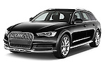 2015 Audi A6 Allroad Quattro - 5 Door Wagon Angular Front stock photos of front three quarter view