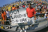 A Landon Donovan fan at the MLS All-Star Game against Fulham at Columbus Crew Stadium in Columbus, OH Saturday, July 30, 2005. The MLS All-Stars won 4-1. (Photo by Brooks Parkenridge/ISI)