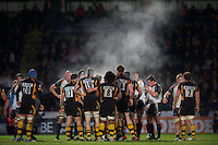 London Wasps players let off steam during the LV= Cup second round match between London Wasps and Worcester Warriors at Adams Park on Sunday 18th November 2012 (Photo by Rob Munro)