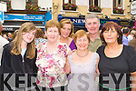 Heather O'Sullivan, Bernie Byrne, Julie Talbot, Margaret Moynihan, Noel Lucey and Cait Geraghty Killarney dancing at the Killarney Fleadh Ceili? on Sunday
