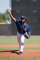 San Diego Padres pitcher Jeremy Smith (21) delivers a pitch to the plate during an Instructional League game against the Milwaukee Brewers on September 27, 2017 at Peoria Sports Complex in Peoria, Arizona. (Zachary Lucy/Four Seam Images)