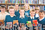 Students of Milltown Primary School availing of the Kerry Library Mobile service .Back L -R James O'Connor, Niamh Murphy, Sinead Van Bladel and Se?ana Kerins.Front L-R Shane Cahill, Gavin Mckenna, Daniel Cronin and Lucas Lobe