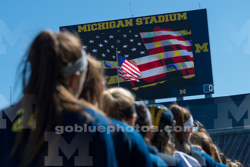 The University of Michigan women's lacrosse team; 14-13,double (OT) loss to Colorado State University at Michigan Stadium in Ann Arbor, Mich. on March 22.