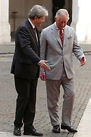 Paolo Gentiloni e il Principe Carlo<br /> Paolo Gentiloni and Prince Charles of Wales<br /> Roma 05/04/2017. Palazzo Chigi. Il Premier riceve il Principe del Galles.<br /> Rome April 5th 2017. Palazzo Chigi. Italian Premier receives the Prince of Wales.<br /> Foto Samantha Zucchi Insidefoto
