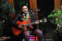 Birmingham, England. 23rd. October, 2016. <br /> Arieb Azhar, Pakistani sufi and folk music artist, performing at the 'Up Close and Personal' concert, produced by Kalaboration as part of their Bridges Across Borders series of events in Kings Heath Birmingham.<br /> Photographer, Kevin Hayes.