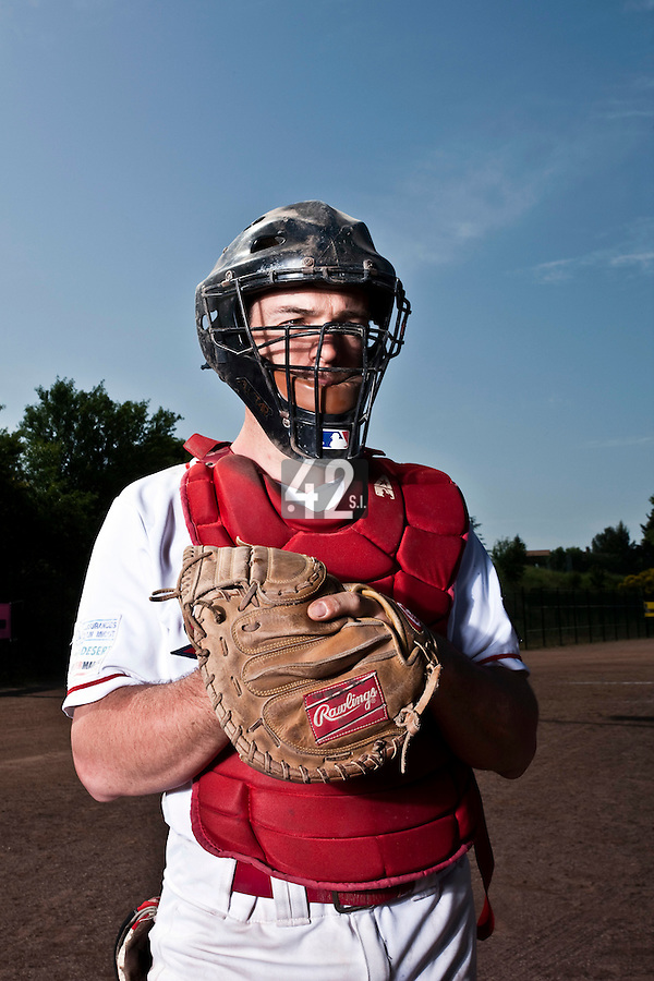 24 May 2009: Fabrice Morlier of La Guerche poses prior to a game against Senart during the 2009 challenge de France, a tournament with the best French baseball teams - all eight elite league clubs - to determine a spot in the European Cup next year, at Montpellier, France. Senart wins 8-5 over La Guerche.