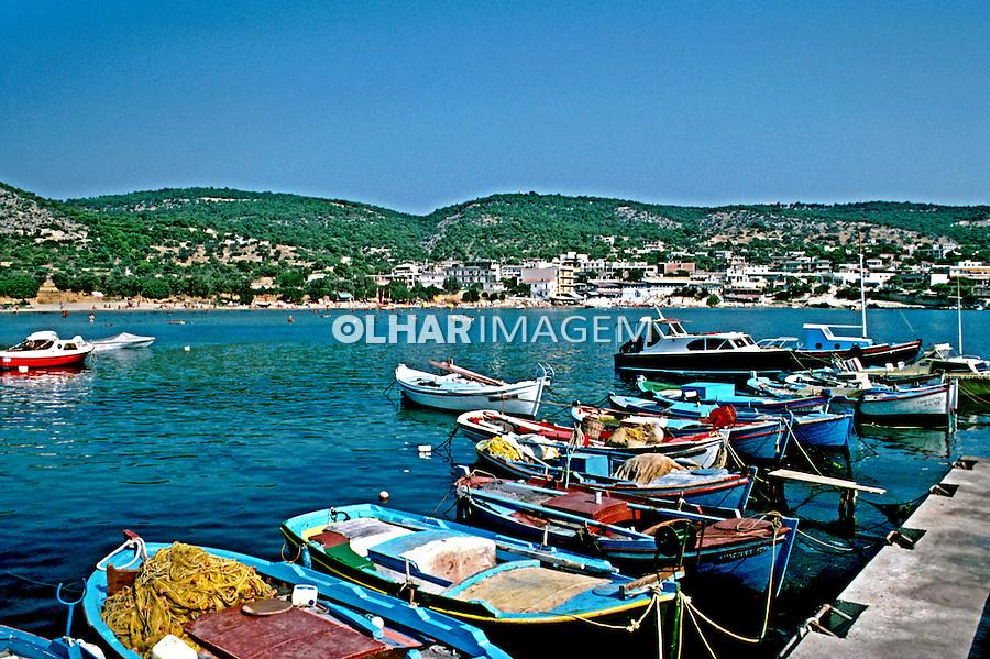 Viila de pescadores no litoral da Grécia. 1985. Foto de João Caldas.