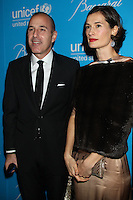 NEW YORK, NY - NOVEMBER 27: Matt Lauer and Annette Roque at the 2012 Unicef SnowFlake Ball at Cipriani 42nd Street on November 27, 2012 in New York City. Credit: RW/MediaPunch Inc. /NortePhoto
