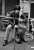 John Entwislte, The Who, The Who Recording Tommy, London, Sept/Oct 1968<br /> Photo Credit: Baron Wolman\AtlasIcons.com