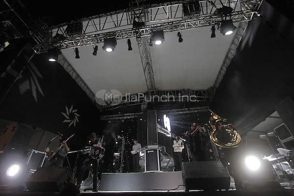 Nortec Collective perform during the 2012 Pitic festival in Hermosillo. Sonora, Mexico. © Baldemar de los Llanos/NortePhoto.com/MediaPunch Inc. ***No Mexico*** ***No Spain***