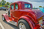 Beautiful Ford Street Rod at custom car show at Mineral Beach in Finleyville PA. near Pittsburgh.