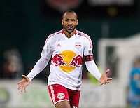 Thierry Henry (14) of New York Red Bulls reacts to missing a through ball during the game at RFK Stadium in Washington DC. D.C. United tied New York Red Bulls, 1-1.