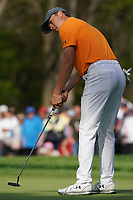 Jordan Spieth (USA) on the 13th green during the 1st round at the PGA Championship 2019, Beth Page Black, New York, USA. 17/05/2019.<br /> Picture Fran Caffrey / Golffile.ie<br /> <br /> All photo usage must carry mandatory copyright credit (&copy; Golffile | Fran Caffrey)