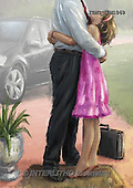 Marcello, MASCULIN, MÄNNLICH, MASCULINO, paintings+++++,ITMCEDM1069,#M# father,daughter ,everyday