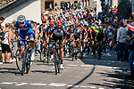 The peleton tackle La Cote de Saint-Roch in Houffalize during the 104th edition of La Doyenne, 2018  Liège-Bastogne-Liège, Belgium, 22 April 2018, Photo by Pim Nijland / PelotonPhotos.com | All photos usage must carry mandatory copyright credit (Peloton Photos | Pim Nijland)