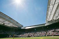 England, London, 28.06.2014. Tennis, Wimbledon, AELTC, Men's semifinal between Novak Djokovic  (SRB) and Grigor Dimitrov (BUL), Pictured: Overall Centercourt view<br /> Photo: Tennisimages/Henk Koster