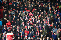 Lincoln City fans enjoy the pre-match atmosphere<br /> <br /> Photographer Chris Vaughan/CameraSport<br /> <br /> The EFL Sky Bet League Two - Lincoln City v Mansfield Town - Saturday 24th November 2018 - Sincil Bank - Lincoln<br /> <br /> World Copyright &copy; 2018 CameraSport. All rights reserved. 43 Linden Ave. Countesthorpe. Leicester. England. LE8 5PG - Tel: +44 (0) 116 277 4147 - admin@camerasport.com - www.camerasport.com