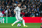 Sergio Ramos of Real Madrid in action during the match of Champions League between Real Madrid and SSC Napoli  at Santiago Bernabeu Stadium in Madrid, Spain. February 15, 2017. (ALTERPHOTOS)
