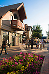 East End Shops, summer, evening, Rocky Mountains, Estes Park, Colorado, USA