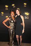 Deborah Koenigsberger with a friend - Founder & CEO of Hearts of Gold annual All That Glitters Gala - 24 years of support to New York City's homeless mothers and their children - (VIP Reception - Silent Auction) was held on November 7, 2018 at Noir et Blanc and the 40/40 Club in New York City, New York.  (Photo by Sue Coflin/Max Photo)