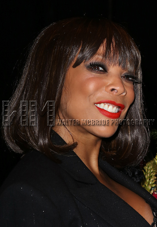 """Wendy Williams backstage after Wendy Williams makes her Broadway stage debut as Matron """"Mama"""" Morton in CHICAGO at the Ambassador Theatre on July 1, 2013 in New York City."""