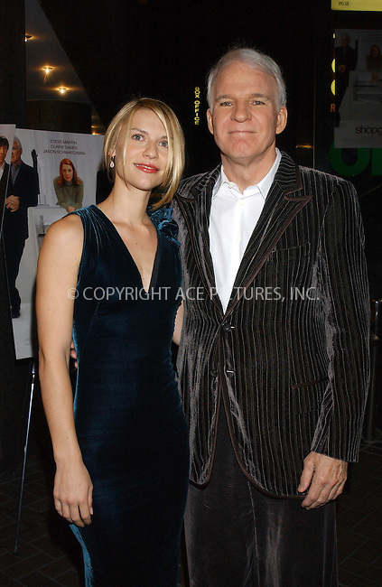 WWW.ACEPIXS.COM . . . . . ....NEW YORK, OCTOBER 17, 2005....Claire Danes and Steve Martin at a special screening of 'Shopgirl' at the Beekman Theater.....Please byline: KRISTIN CALLAHAN - ACE PICTURES.. . . . . . ..Ace Pictures, Inc:  ..Craig Ashby (212) 243-8787..e-mail: picturedesk@acepixs.com..web: http://www.acepixs.com
