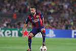 21.10.2014 Barcelona, Spain. UEFA Champions League matchday 3 Group 3. Picture show Jordi ALba in action during game between FC Barcelona against Ajax at Camp Nou