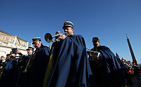 Vatican Gendarmerie's music band perform in St. Peter's Square before the Pope Francis' Urbi et Orbi (In Latin 'to the city and to the world') Christmas' day blessing from the central loggia of St. Peter's Basilica at the Vatican, on December 25, 2019.<br /> UPDATE IMAGES PRESS/Isabella Bonotto<br /> <br /> STRICTLY ONLY FOR EDITORIAL USE