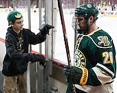 Jack Lyman (UVM), Caylen Walls (UVM - 26) - The Boston College Eagles defeated the visiting University of Vermont Catamounts to sweep their quarterfinal matchup on Saturday, March 16, 2013, at Kelley Rink in Conte Forum in Chestnut Hill, Massachusetts.