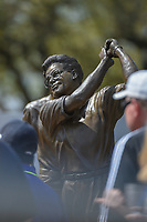 A statue of Tom Kite looks over the crowd as they pass by  during day 2 of the World Golf Championships, Dell Match Play, Austin Country Club, Austin, Texas. 3/22/2018.<br /> Picture: Golffile | Ken Murray<br /> <br /> <br /> All photo usage must carry mandatory copyright credit (&copy; Golffile | Ken Murray)
