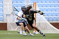 CHAPEL HILL, NC - MARCH 10: Marc O'Rourke #6 of Bryant University carries the ball during a game between Bryant and North Carolina at Dorrance Field on March 10, 2020 in Chapel Hill, North Carolina.