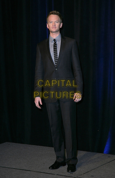 NEIL PATRICK HARRIS .CBS Films ShoWest Luncheon at the Paris Resort Hotel and Casino,  Las Vegas, Nevada, USA,.18th March 2010..full length black shirt suit grey gray tie striped .CAP/ADM/MJT.© MJT/AdMedia/Capital Pictures.