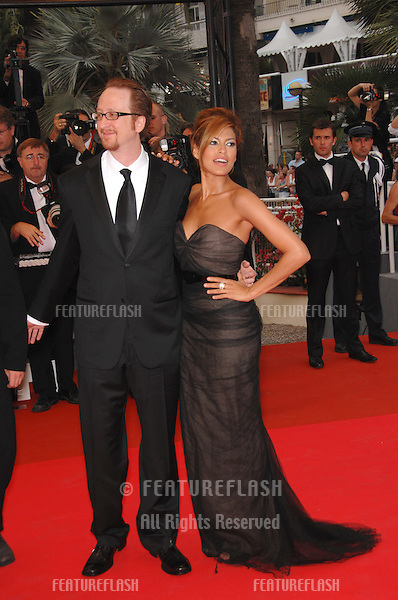 "Eva Mendes & director James Gray at screening for ""We Own the Night"" at the 60th Annual International Film Festival de Cannes..May 25, 2007  Cannes, France..© 2007 Paul Smith / Featureflash"