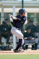 New York Yankees shortstop Wilkerman Garcia (50) during an Instructional League game against the Pittsburgh Pirates on September 18, 2014 at the Pirate City in Bradenton, Florida.  (Mike Janes/Four Seam Images)