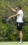 SINGAPORE - MARCH 06:  Michele Redman of the USA in action during the second round of HSBC Women's Champions at the Tanah Merah Country Club on March 6, 2009 in Singapore.  Photo by Victor Fraile / The Power of Sport Images
