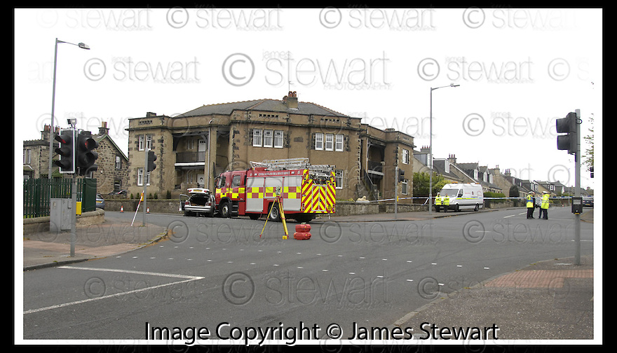 05/08/2008  Copyright Pic: James Stewart.File Name : sct_jspa07_gary_trotter.THE SCENE IN BO'NESS AT THE LINLITHGOW ROAD / DEAN ROAD JUCTION WHERE THE DRIVER OF A CAR WAS KILLED WHEN IT WAS IN COLLISION WITH A FIRE ENGINE DRIVEN BY GARY TROTTER.....(see copy from Jamies Beatson / Tim Bugler)....James Stewart Photo Agency 19 Carronlea Drive, Falkirk. FK2 8DN      Vat Reg No. 607 6932 25.Studio      : +44 (0)1324 611191 .Mobile      : +44 (0)7721 416997.E-mail  :  jim@jspa.co.uk.If you require further information then contact Jim Stewart on any of the numbers above........