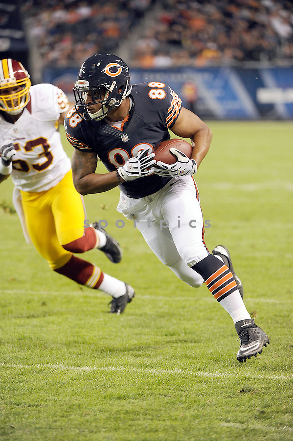 EVAN RODRIGUEZ (88), of the Chicago Bears, in action during the Bears game against the Washington Redskins on August 18, 2012 at Soldier Field in Chicago, IL. The Bears beat the Redskins 33-31.