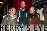 Sinead Buckley, Keith Cotter and Ríona O' Madagain, from Dingle, outside St. James Church, Dingle, during Other Voices over the weekend.