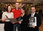 Peter Ruby and Deirdre Walsh, who are having their wedding in the Dromhall Hotel in July 2012, with Ciara O'Donoghue, left, and Michael Talbot, right, Dromhall Hotel, at the  'UNVEILED' wedding showcase and catwalk show at Killarney's Dromhall Hotel on Sunday.   Picture: Eamonn Keogh (MacMonagle, Killarney)