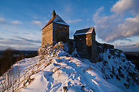 Burg Hohenstein Castle in winter, Hohenstein, Franconia, Germany