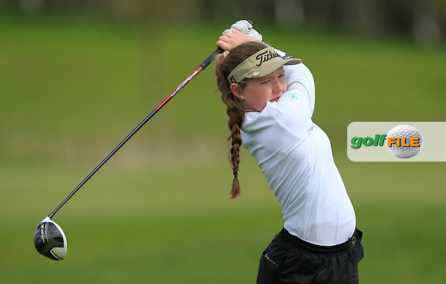 Valerie Clancy (Killarney) on the 13th tee during Round 3 of the Irish Girl's Open Stroke Play Championship at Roganstown Golf &amp; Country Club on Sunday 17th April 2016.<br /> Picture:  Thos Caffrey / www.golffile.ie