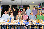 Enjoying a meal with work collegues from David Nolan & Co on Friday night at the Kingdom Greyhound Stadium to celebrate the announcement of their engagement were happy couple Aoife McCarthy, Castleisland and Eamon Magalley, Castleisland .Pictured front l-r Maurice O'Driscoll, Mary Farrah, Aoife McCarthy, Eamon Magalley, Dermot Foley and James Costello. Back l-r Jane Doyle, Rowina Savage, Trese Brick and Kitty Nolan