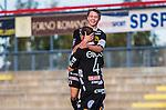 S&ouml;dert&auml;lje 2013-10-06 Fotboll Allsvenskan Syrianska FC - IF Elfsborg :  <br /> Elfsborg 19 Simon Hedlund jublar med Elfsborg 4 Joackim J&ouml;rgensen efter 2-1 till IF Elfsborg<br /> (Foto: Kenta J&ouml;nsson) Nyckelord:  jubel gl&auml;dje lycka glad happy