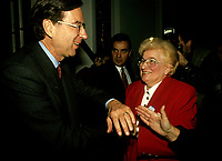 Montreal (QC)CANADA - File Photo - circa 1992<br /> Quebec Premier and<br /> Liberal Provincial Leader Robert Bourassa