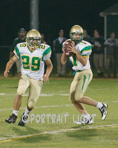 CHS junior Daryl Jent (left) and sophomore quarterback Brandon Whitney.